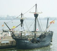 Replica of Magellan's carrack, the Victoria. She left Spain in 1519 as part of a fleet 6 ships (with 265 men). After traveling 68,000km, only 18 men on this ship returned to Spain 4 years later.  Victoria was in terrible shape, with her sails torn and only kept afloat by continuous pumping of water... BUT she did have a hold full of valuable spices.