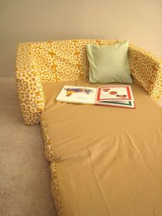 """DIY cover for kids """"character"""" sofa. I made one of these right away to cover our spiderman sofa, but after 3yrs it's so worn out I need to make another one."""