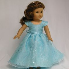 "Pretty American Girl 18"" Doll prom or special occasion gown by Juliascreations on Etsy. Inspiration"
