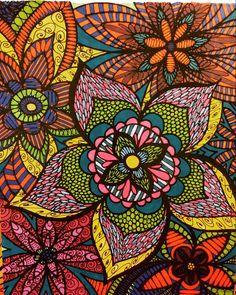 ColorIt Colorful Flowers Volume 1 Colorist Jacqueline Ann Siggers Adultcoloring Coloringforadults Adultcoloringpages