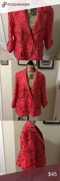 Clara sun woo sheer  jacket This jacket is absolutely gorgeous unfortunately doesn't fit me. I wore it once it is in pristine conditions. clara sun woo Jackets & Coats