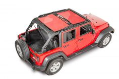 Looking for a quick easy solution to keep the sun out while letting the breeze in?  Dirtydog 4x4 has the answer for you. Dirtydog 4X4 Sun Screen Tops are an easy on and off durable heavy weight screen that does not need to be removed to install your hard or soft top. Designed to eliminate glare and keep 70% of the harmful UV rays out while still allowing open air riding. The Dirtydog 4X4 Sun Screen Top installs easily without the need for a header bracket. No special tools required for ...
