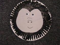 gorilla paper plate craft--Goodnight Gorilla--Letter G, also for the gorilla in From Head to Toe Letter G Crafts, Abc Crafts, Alphabet Crafts, Animal Crafts, Book Crafts, Circus Crafts, Kids Crafts, Zoo Preschool, Preschool Projects