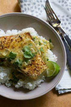 @saltandwind Souvenir Recipe:  Seared Coconut Vindaloo Swordfish   Inspired by India   http://saltandwind.com   