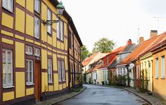 Charming street in Ystad, Sweden
