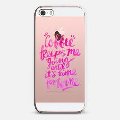 Coffee & Wine – Pink Ombré on Transparent - Classic Snap Case