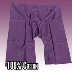 3/4 Thai fisherman pants - blue huckleberry color - cotton