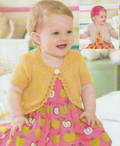 """1431 Baby Girl DK Jacket /& Pants Vintage Knitting Pattern 16-22/"""""""