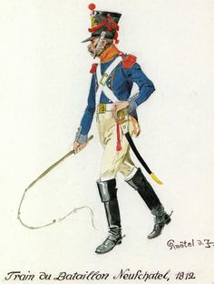 Swiss; Neuchatel Battalion, Driver of the Train 1812 by Knotel