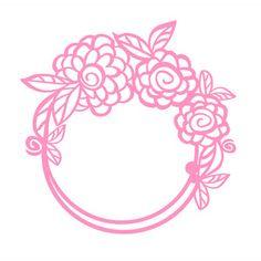 Silhouette Design Store: flower wreath