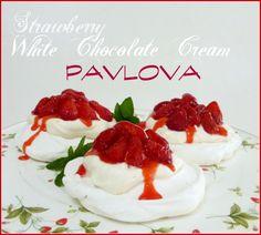 Strawberry White Chocolate Cream Pavlova