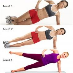 side plank-- it's sick and wrong that I'm looking forward to this after I finish the reg. Challenge!