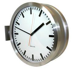 karlsson double sided station clock clock wallmirror