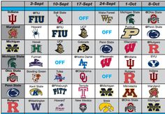 Check out our printable BIG10 Football Schedules and scores. Visit this page each week to print the updated schedule with scores.