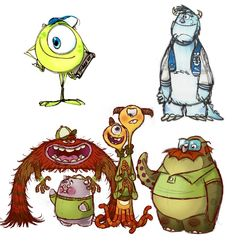 The Making of Disney Pixar's Monsters University: Sketches and Early Drawings