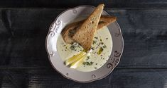 Artichoke velvet soup by Greek chef Akis Petretzikis. Make easily and quickly this recipe for a thick and warm soup with artichokes, perfect for the winter! Soup, Velvet, Artichokes, Ethnic Recipes, Lab, Greek, Winter, Kitchen, Cuisine