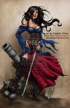 "Pirates: ""#Pirate Girl III,"" by Elengwat, at deviantART."