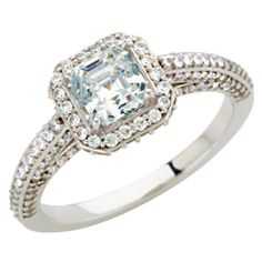 Nue Diamonds | Infinity $1599  amazing engagement ring!    http://www.nuediamonds.com/simulated_gemstone_eco_friendly_Infinity_asscher.html