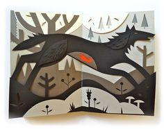 Tracy Walker Illustration - papercuts - octopus vs squid
