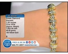 7.00 ct Diamond 18K Yellow Gold Bracelet Length 7.25 inches (48.30 gram weight)