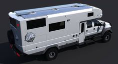 The EarthRoamer of the future will make your jaw drop. We got a peek at the 2016 camper model. Off Road Camper, Truck Camper, Ev Truck, Big Trucks, Ford Trucks, Luxury Motorhomes, Van Conversion Interior, Overland Trailer, Mercedes Truck