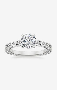 Vintage Engagement Ring | Delicate Antique Scroll