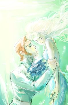 i don't ship hans and elsa but this is so pretty.