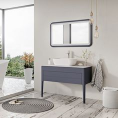 The Stonehouse Vanity unit is right on trend with its deep slate grey finish and stylish tapered legs 😍 Sink Vanity Unit, Bedding And Bath, Gray Vanity, Vanity Units, Vanity, Wall Hung Vanity, Grey Walls, Simple Bathroom, Stonehouse