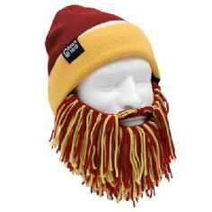 Amazon.com: NFL Washington Redskins Beanie with Barbarian Beard, Red/Yellow: Sports & Outdoors