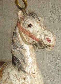 Rare, unusual carousel Horse. Probably German or French, circa 1930.