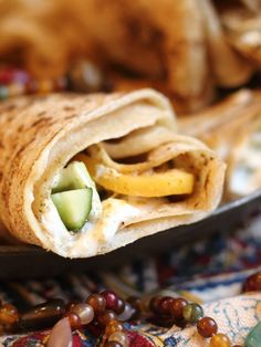 Druze Laffa with Preserved Lemons, Cucumber and Labneh Recipe - JoyOfKosher.com