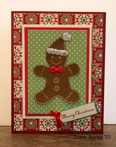 card - gingerbread man