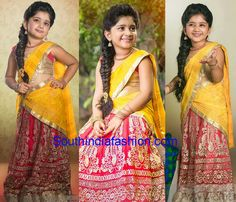 kids half saree