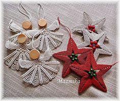 macrame andělíčci a hvězdičky Cute Crafts, Diy And Crafts, Christmas Projects, Christmas Crafts, Angel Crafts, Micro Macramé, Macrame Design, Macrame Projects, Macrame Tutorial