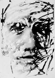 """photojojo: """"Here's a gorgeous blend of photography and painting. Timothy Pakron selectively exposes images of people's faces by painting developer onto paper in a darkroom. So original! Painting a Portrait with Photo Developer """""""