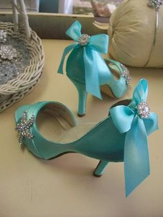 Tiffany Wedding Shoes..they would be fabulous for my beach wedding next year!#Repin By:Pinterest++ for iPad#