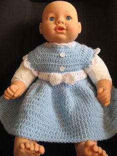 Easy crochet baby dress -  video two