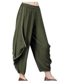 Plus Size Women Irregular Wide Leg Harem Pants Short Sleeve Dresses, Dresses With Sleeves, Daytime Dresses, Women's Fashion Dresses, Types Of Sleeves, Plus Size Women, Harem Pants, Clothes For Women, Capris