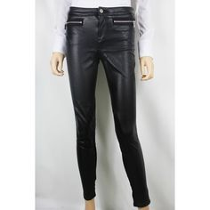 Karen Millen Pants Karen Millen Pants. NWT! Black Jean Mixed Media (Jersey Knit and Faux Leather). Size 10. Never worn before! The first picture is not the exact pant, it is a very similar style! Karen Millen Pants