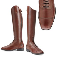 Cognac brown and Square toe - LOVE IT! Ariat Women's Challenge Tall Riding Boots #Ariat #tallboots #everythingequestrian