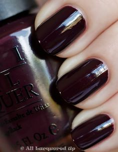 OPI Lincoln Park After Dark. Your favorite grim color. Something you can actually go to work in, your dark lipstick's best friend.