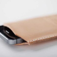 Natural (undyed) Leather iPhone 5/5S Case