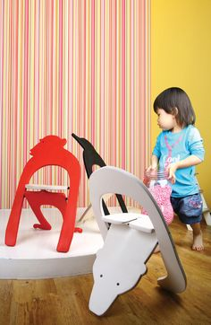kids stool ZOO in WOOD FUSION 2008 | MARS POST