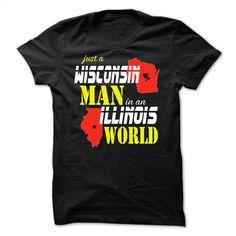 Wisconsin Man In A Illinois States T Shirt, Hoodie, Sweatshirts - teeshirt #Tshirt #fashion
