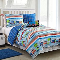 All Aboard Reversible Comforter Set