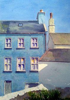 Peter Robinson, Isle Of Man, Watercolor Paintings, Blue, Water Colors, Watercolour Paintings, Watercolor Painting