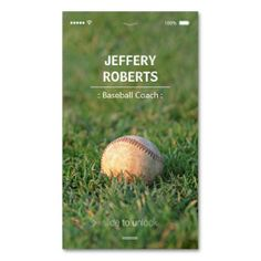 Shop Creative Baseball Coach Baseball Trainer Business Card created by CardHunter. Personalize it with photos & text or purchase as is! Custom Business Cards, Business Card Design, Creative Business, Text Style, Trainers, Things To Come, Baseball, Card Templates, Paper