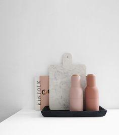 The Minimalist x Menu grinders and marble cheeseboard