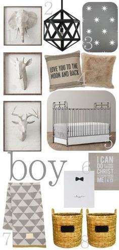 A must....an awesome chandelier  Baby Boy Nursery.... Love the rustic look!