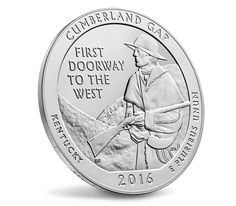 Cumberland Gap National Historical Park 2016 Uncirculated Five Ounce Silver CoinCumberland Gap National Historical Park 2016 Uncirculated Five Ounce Silver Coin,